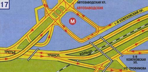 Москвы. Схема развязок