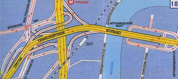 Схема транспортных развязок на третьем транспортном кольце