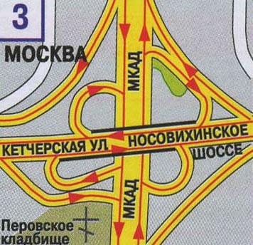 Москвы. Схема развязок МКАД.